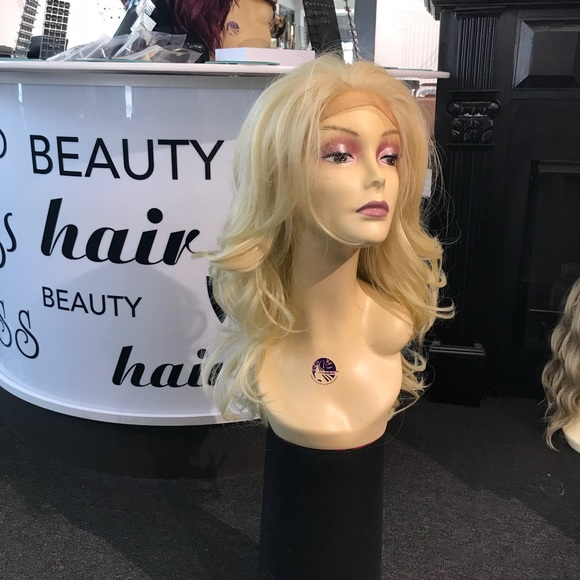 Accessories - Blonde curly Wig for sale human hair Blende Long